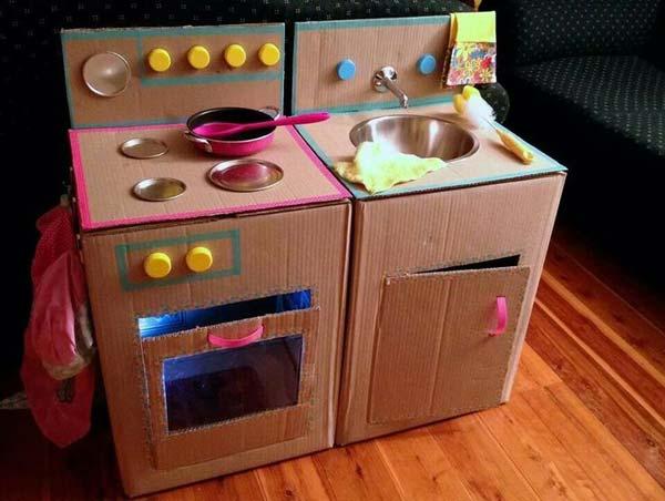 Детские кухни для девочек из картона своими руками 66