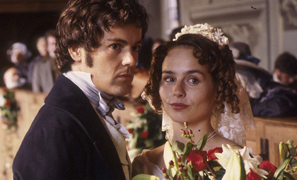 Toby Stephens as Gilbert Markham and Tara Fitzgerald as Helen Graham in The Tenant of Wildfell Hall