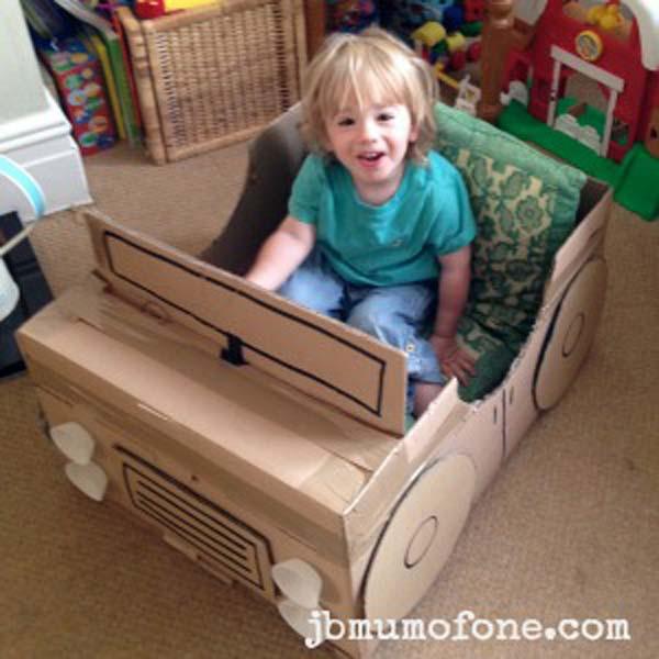 Сделать машинку для ребенка