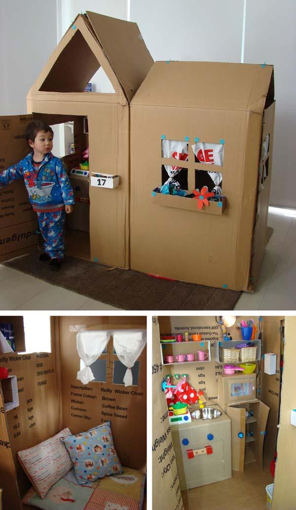 Как сделать домик из картона для детей своими