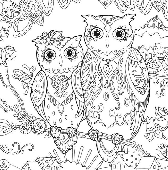 30 бесплатных раскрасок для взрослых снимаем стресс