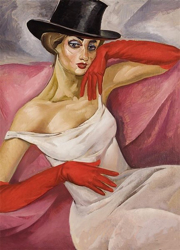 "Борис Григорьев ""Женщина в цилиндре"", 1919г."