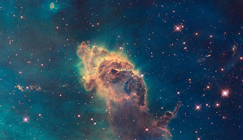 WFC3 visible image of the Carina Nebula