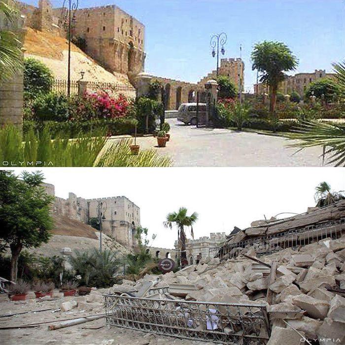 алеппо до и после войны фото