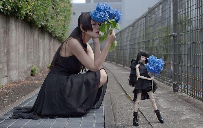 Букет синих цветов. Автор: Iretaro.