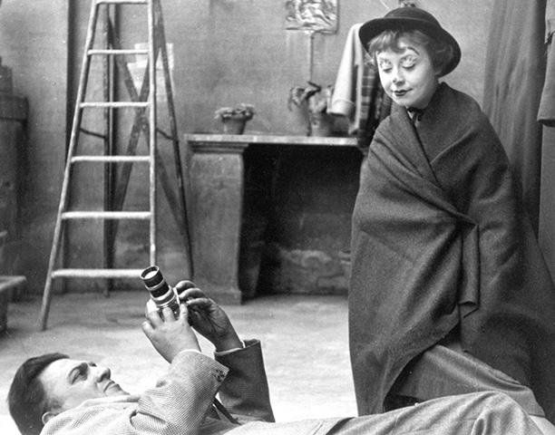 Во время съемок «Дороги», 1953